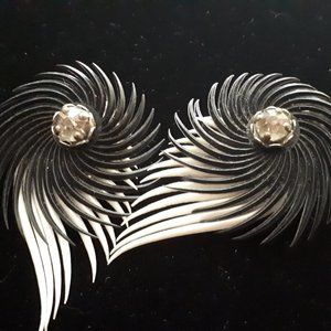 1960's Black and White Earrings
